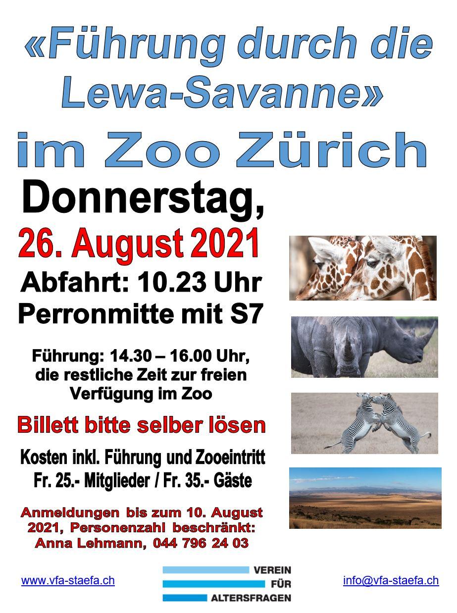 Flyer Zoo Zürich