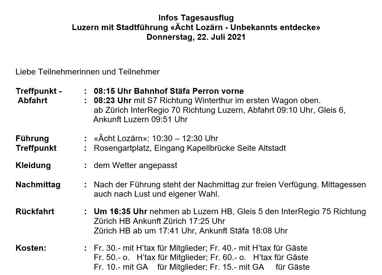 Infos Luzern