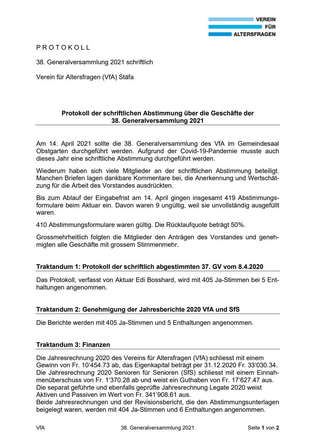GV Protokoll VfA 2021